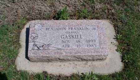 GASKILL  , BENJAMIN FRANKLIN. JR - Montgomery County, Kansas   BENJAMIN FRANKLIN. JR GASKILL   - Kansas Gravestone Photos