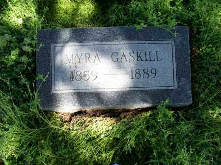 GASKILL, MYRA - Montgomery County, Kansas | MYRA GASKILL - Kansas Gravestone Photos