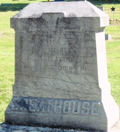 GREATHOUSE, ANNA E - Montgomery County, Kansas | ANNA E GREATHOUSE - Kansas Gravestone Photos