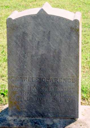GREATHOUSE, CHARLES CLARENCE - Montgomery County, Kansas | CHARLES CLARENCE GREATHOUSE - Kansas Gravestone Photos