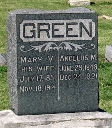 GREEN, MARY V - Montgomery County, Kansas | MARY V GREEN - Kansas Gravestone Photos