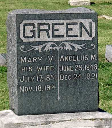 GREEN, ANGELUS M - Montgomery County, Kansas | ANGELUS M GREEN - Kansas Gravestone Photos