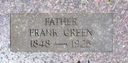 GREEN, FRANK - Montgomery County, Kansas | FRANK GREEN - Kansas Gravestone Photos