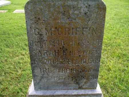 GRIFFIN, SARAH C. - Montgomery County, Kansas | SARAH C. GRIFFIN - Kansas Gravestone Photos