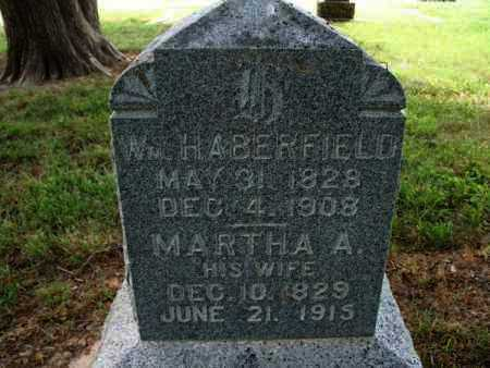 HABERFIELD, WILLIAM H - Montgomery County, Kansas | WILLIAM H HABERFIELD - Kansas Gravestone Photos