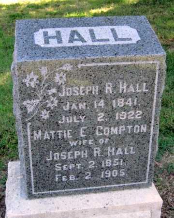 HALL, JOSEPH R - Montgomery County, Kansas   JOSEPH R HALL - Kansas Gravestone Photos
