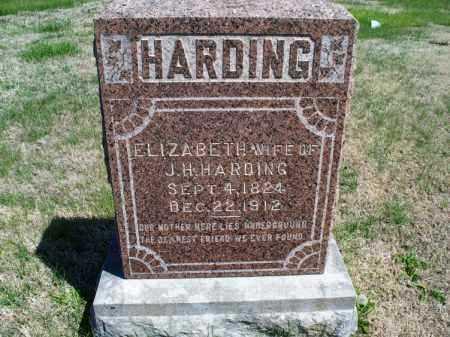 HARDING, ELIZABETH - Montgomery County, Kansas | ELIZABETH HARDING - Kansas Gravestone Photos