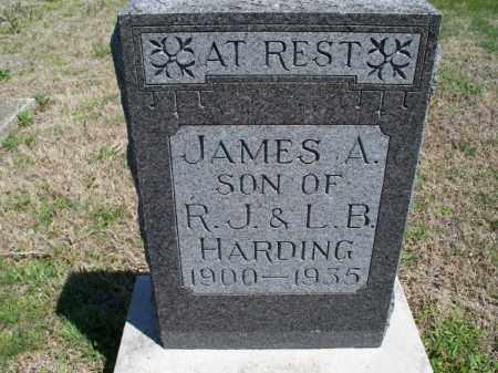 HARDING, JAMES A - Montgomery County, Kansas   JAMES A HARDING - Kansas Gravestone Photos