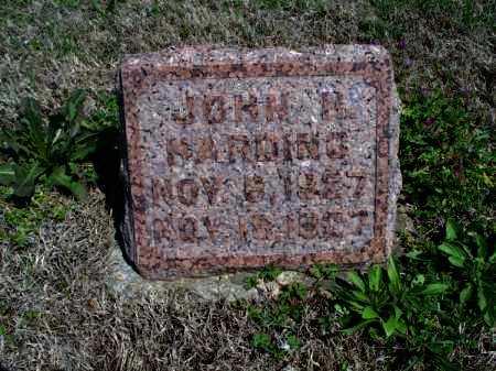 HARDING, JOHN H - Montgomery County, Kansas | JOHN H HARDING - Kansas Gravestone Photos
