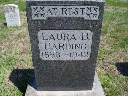 BROWN HARDING, LAURA B - Montgomery County, Kansas | LAURA B BROWN HARDING - Kansas Gravestone Photos
