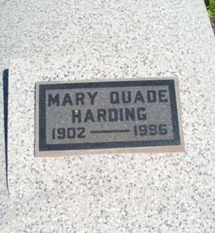 QUADE HARDING, MARY - Montgomery County, Kansas | MARY QUADE HARDING - Kansas Gravestone Photos