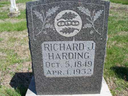 HARDING, RICHARD J - Montgomery County, Kansas | RICHARD J HARDING - Kansas Gravestone Photos