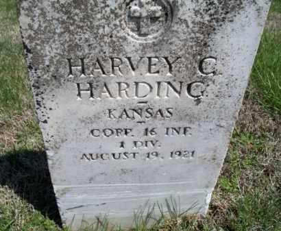 HARDING, HARVEY C   (VETERAN WWI) - Montgomery County, Kansas | HARVEY C   (VETERAN WWI) HARDING - Kansas Gravestone Photos