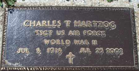 HARTZOG, CHARLES T  (VETERAN WWII) - Montgomery County, Kansas | CHARLES T  (VETERAN WWII) HARTZOG - Kansas Gravestone Photos