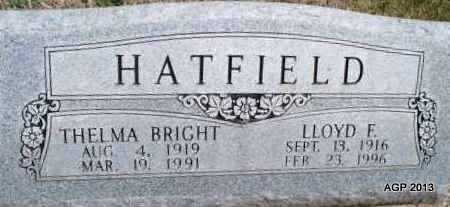 HATFIELD, LLOYD F. - Montgomery County, Kansas | LLOYD F. HATFIELD - Kansas Gravestone Photos