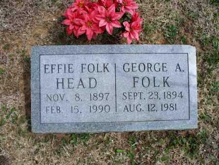 FOLK, GEORGE A - Montgomery County, Kansas   GEORGE A FOLK - Kansas Gravestone Photos