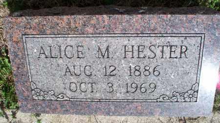 HESTER, ALICE M. - Montgomery County, Kansas | ALICE M. HESTER - Kansas Gravestone Photos