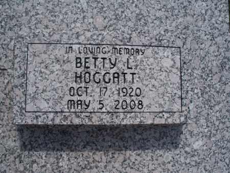 HOGGATT, BETTY L - Montgomery County, Kansas | BETTY L HOGGATT - Kansas Gravestone Photos