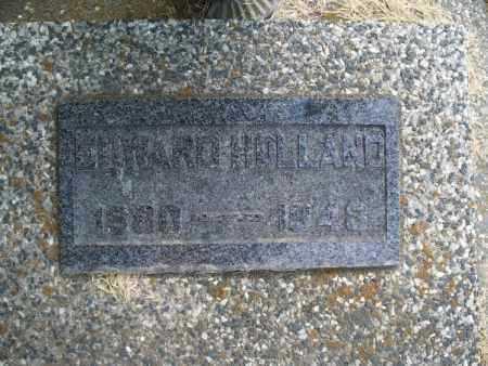 HOLLAND, EDWARD - Montgomery County, Kansas   EDWARD HOLLAND - Kansas Gravestone Photos