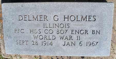HOLMES, DELMER G  (VETERAN WWII) - Montgomery County, Kansas | DELMER G  (VETERAN WWII) HOLMES - Kansas Gravestone Photos