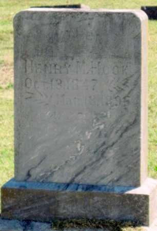 HOOK, HENRY M - Montgomery County, Kansas | HENRY M HOOK - Kansas Gravestone Photos
