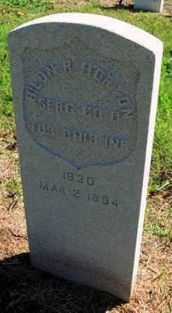 HORTON, HILON R   (VETERAN UNION) - Montgomery County, Kansas   HILON R   (VETERAN UNION) HORTON - Kansas Gravestone Photos