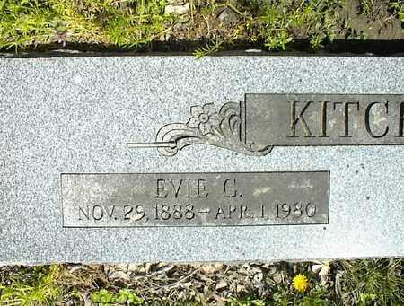 KITCHENS, EVIE C  (CLOSEUP) - Montgomery County, Kansas | EVIE C  (CLOSEUP) KITCHENS - Kansas Gravestone Photos