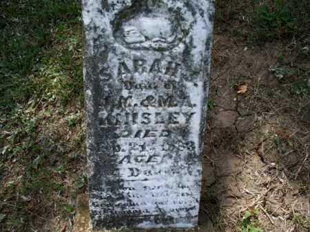 KNISLEY, SARAH - Montgomery County, Kansas | SARAH KNISLEY - Kansas Gravestone Photos