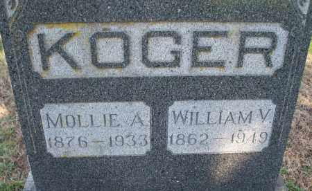 KOGER, MOLLIE A. - Montgomery County, Kansas | MOLLIE A. KOGER - Kansas Gravestone Photos