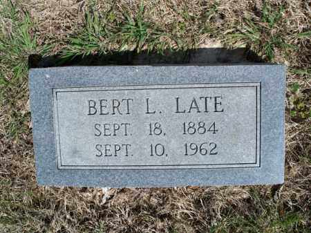 LATE, BERT L - Montgomery County, Kansas | BERT L LATE - Kansas Gravestone Photos