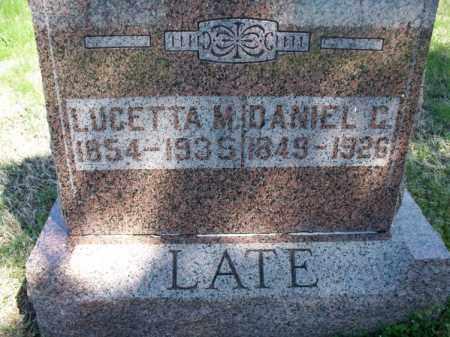 LATE, DANIEL CHRISTIAN - Montgomery County, Kansas   DANIEL CHRISTIAN LATE - Kansas Gravestone Photos