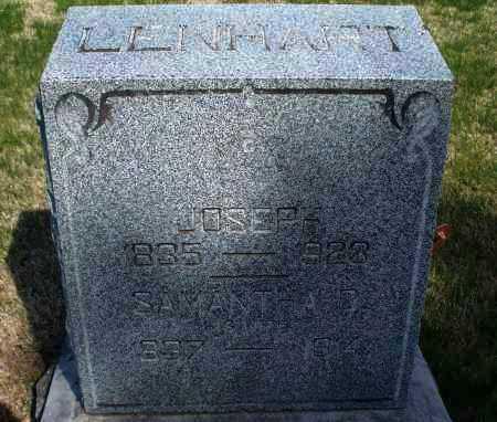 LENHART, JOSEPH - Montgomery County, Kansas | JOSEPH LENHART - Kansas Gravestone Photos