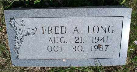 LONG, FRED A. - Montgomery County, Kansas | FRED A. LONG - Kansas Gravestone Photos