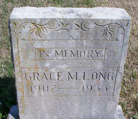 LONG, GRACE M. - Montgomery County, Kansas | GRACE M. LONG - Kansas Gravestone Photos