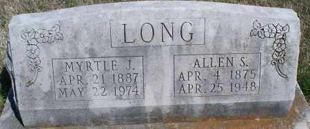 LONG, MYRTLE J. - Montgomery County, Kansas | MYRTLE J. LONG - Kansas Gravestone Photos