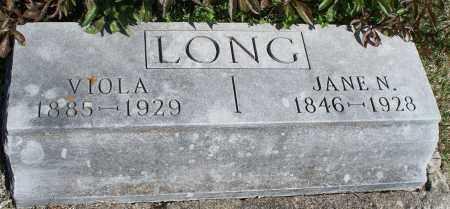 LONG, JANE N. - Montgomery County, Kansas | JANE N. LONG - Kansas Gravestone Photos