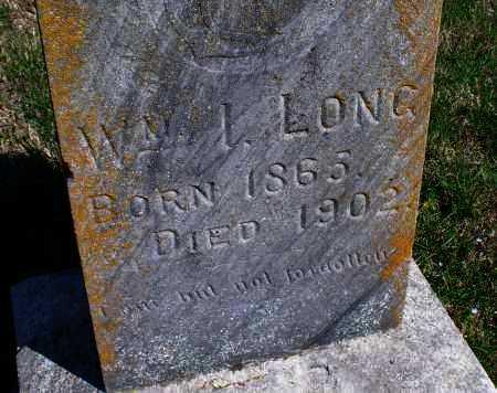 LONG, WM. L. - Montgomery County, Kansas | WM. L. LONG - Kansas Gravestone Photos