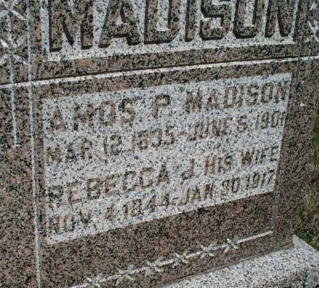 MADISON, AMOS P. - Montgomery County, Kansas | AMOS P. MADISON - Kansas Gravestone Photos
