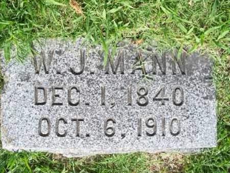 MANN, W. J. - Montgomery County, Kansas | W. J. MANN - Kansas Gravestone Photos