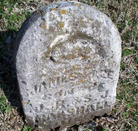 MARSHALL, JAMES - Montgomery County, Kansas | JAMES MARSHALL - Kansas Gravestone Photos