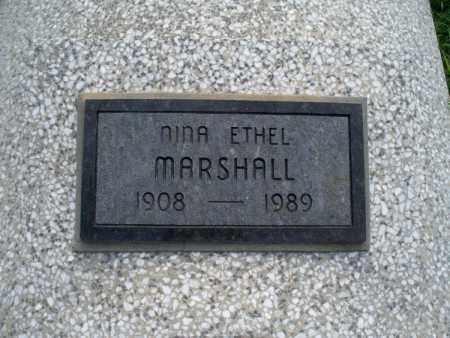 MARSHALL, NINA ETHEL - Montgomery County, Kansas | NINA ETHEL MARSHALL - Kansas Gravestone Photos