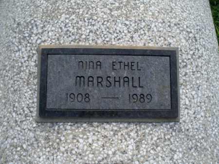 MARSHALL, NINA ETHEL - Montgomery County, Kansas   NINA ETHEL MARSHALL - Kansas Gravestone Photos