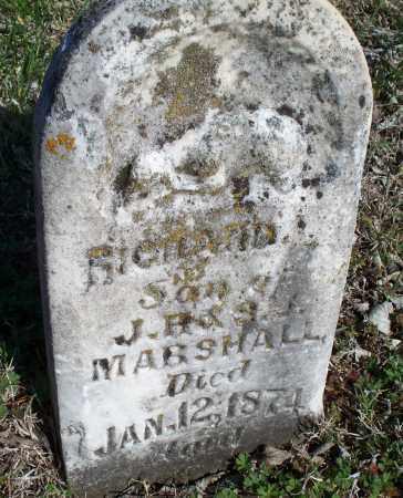 MARSHALL, RICHARD - Montgomery County, Kansas   RICHARD MARSHALL - Kansas Gravestone Photos