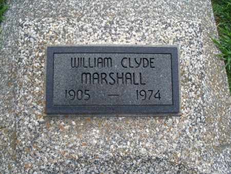 MARSHALL, WILLIAM CLYDE - Montgomery County, Kansas   WILLIAM CLYDE MARSHALL - Kansas Gravestone Photos