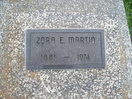 MARTIN, ZORA E. - Montgomery County, Kansas   ZORA E. MARTIN - Kansas Gravestone Photos