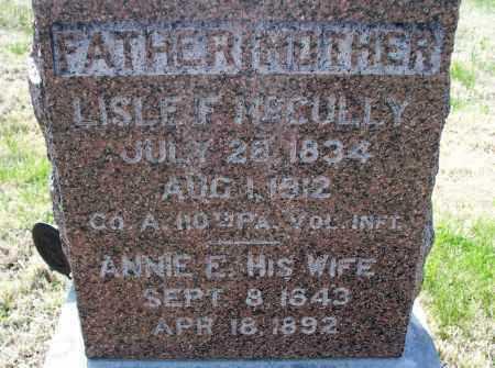MCCULLY, LISLE F    (VETERAN  UNION) - Montgomery County, Kansas | LISLE F    (VETERAN  UNION) MCCULLY - Kansas Gravestone Photos