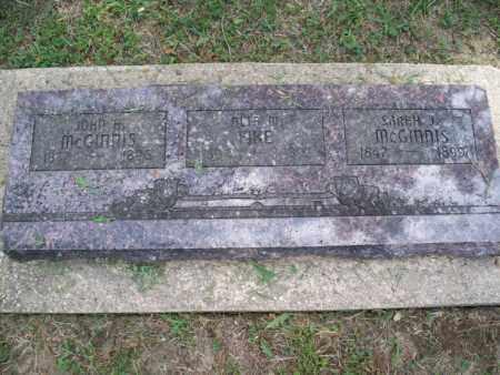 MCGINNIS, JOHN H. - Montgomery County, Kansas | JOHN H. MCGINNIS - Kansas Gravestone Photos