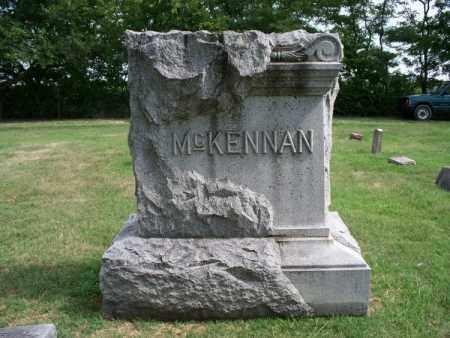 MCKENNAN, *FAMILY STONE - Montgomery County, Kansas   *FAMILY STONE MCKENNAN - Kansas Gravestone Photos