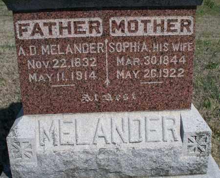 MELANDER, A. D. - Montgomery County, Kansas | A. D. MELANDER - Kansas Gravestone Photos