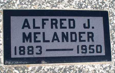 MELANDER, ALFRED J. - Montgomery County, Kansas | ALFRED J. MELANDER - Kansas Gravestone Photos